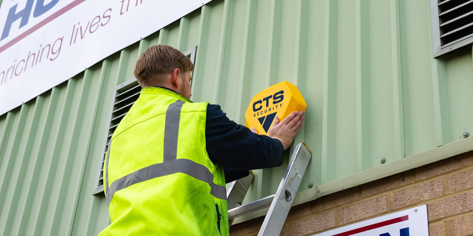 Intruder alarm installation by a CTS Engineer